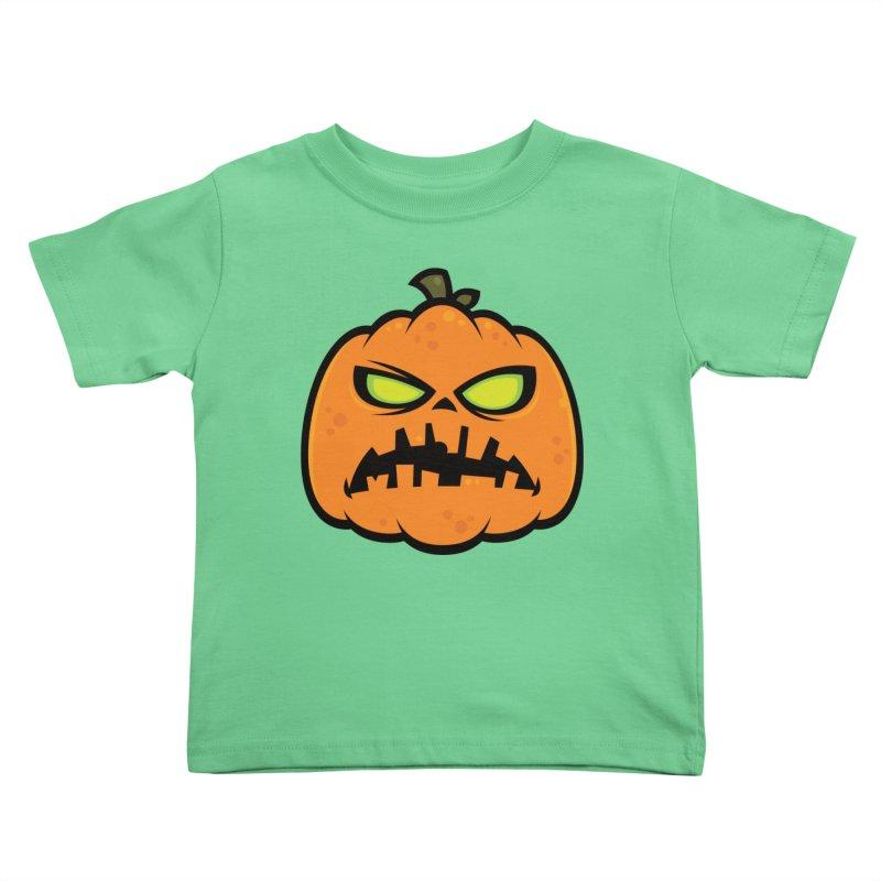 Pumpkin Zombie Kids Toddler T-Shirt by Fizzgig's Artist Shop
