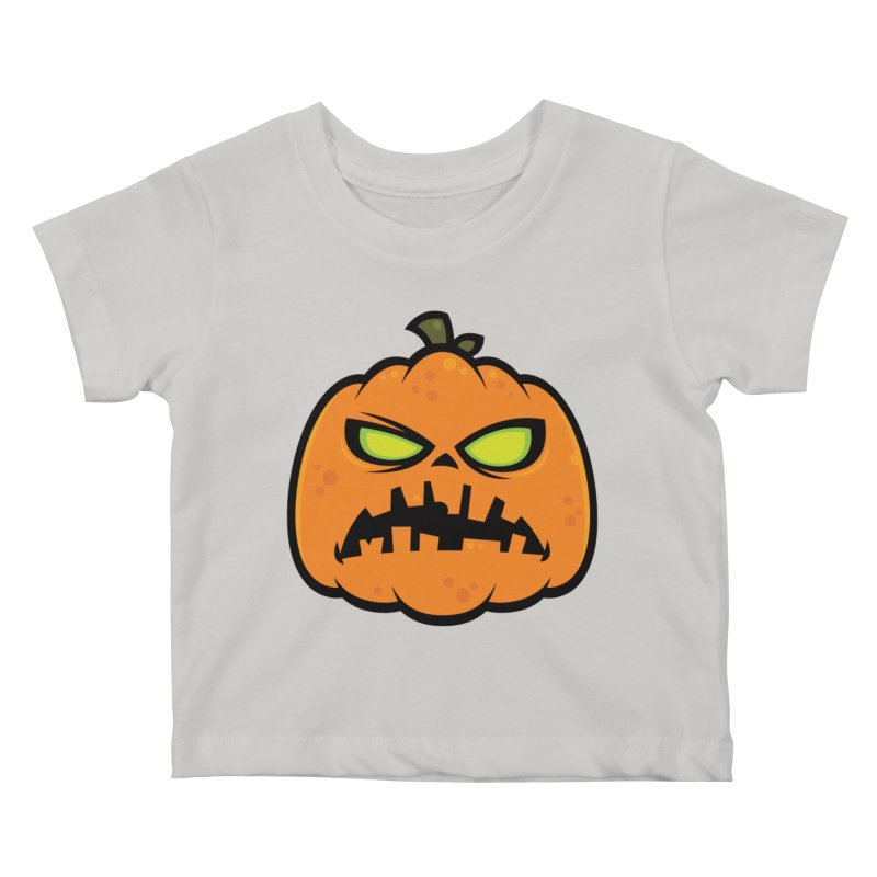 Pumpkin Zombie Kids Baby T-Shirt by Fizzgig's Artist Shop