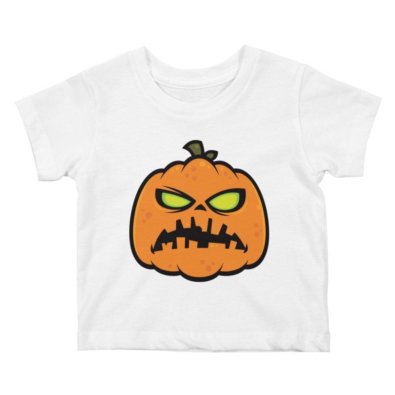 Pumpkin Zombie Kids Baby T-Shirt by Fizzgig's Artist Shop