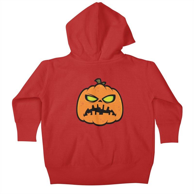 Pumpkin Zombie Kids Baby Zip-Up Hoody by Fizzgig's Artist Shop