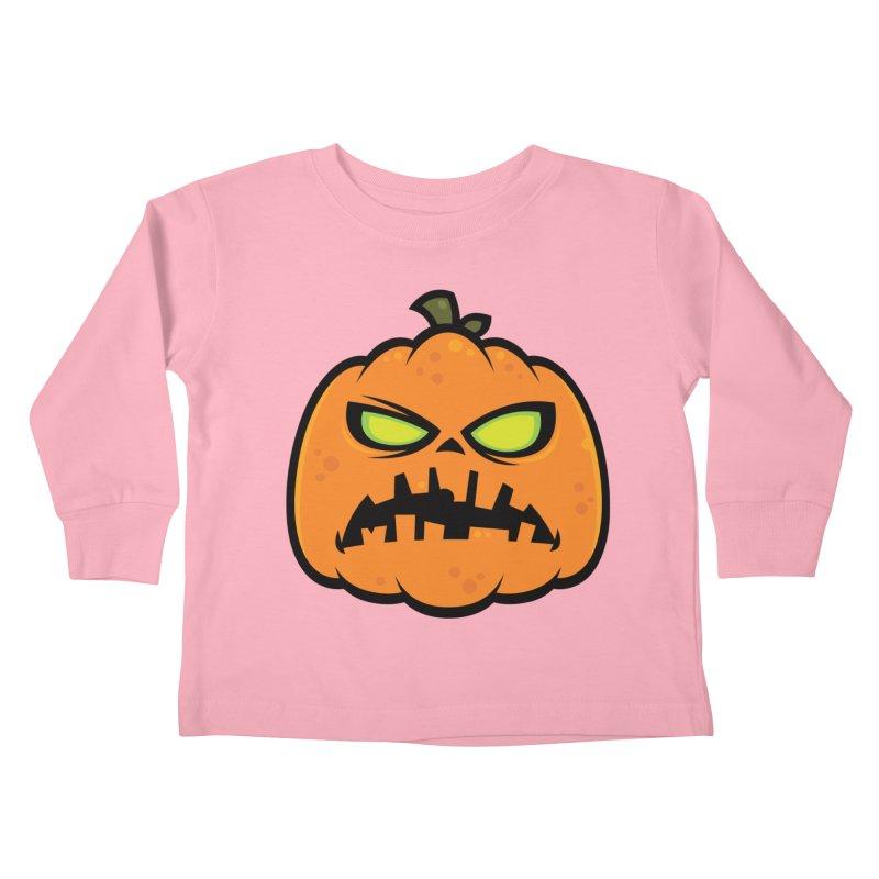 Pumpkin Zombie Kids Toddler Longsleeve T-Shirt by Fizzgig's Artist Shop