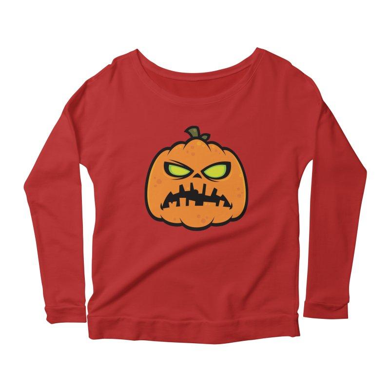 Pumpkin Zombie Women's Longsleeve Scoopneck  by Fizzgig's Artist Shop