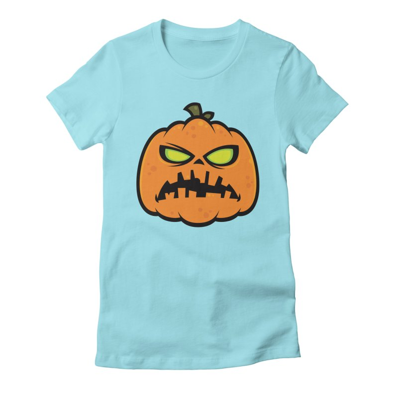 Pumpkin Zombie Women's Fitted T-Shirt by Fizzgig's Artist Shop