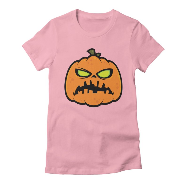 Pumpkin Zombie Women's Fitted T-Shirt by Fizzgig's Artist Shop