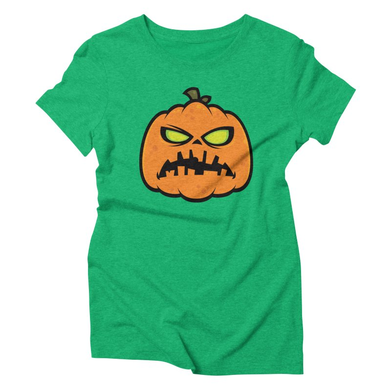 Pumpkin Zombie Women's Triblend T-shirt by Fizzgig's Artist Shop
