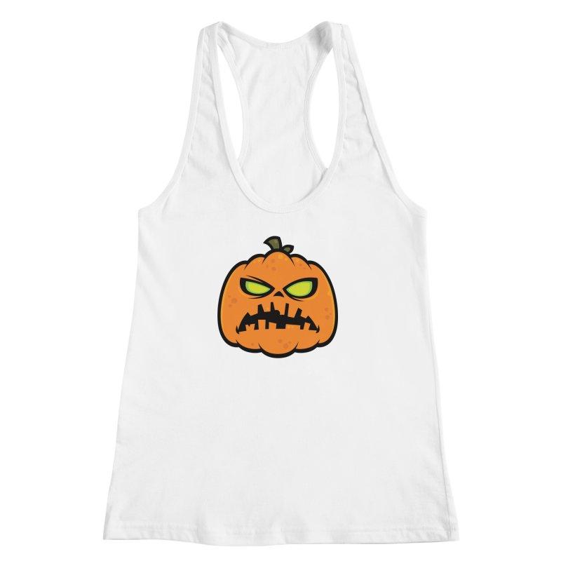 Pumpkin Zombie Women's Racerback Tank by Fizzgig's Artist Shop
