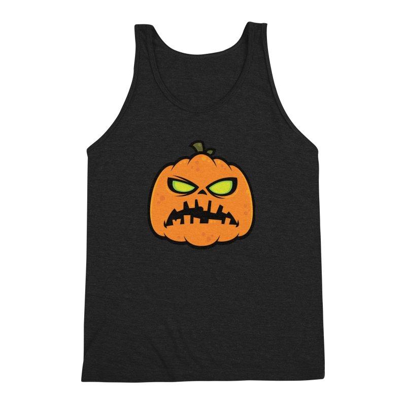Pumpkin Zombie Men's Triblend Tank by Fizzgig's Artist Shop