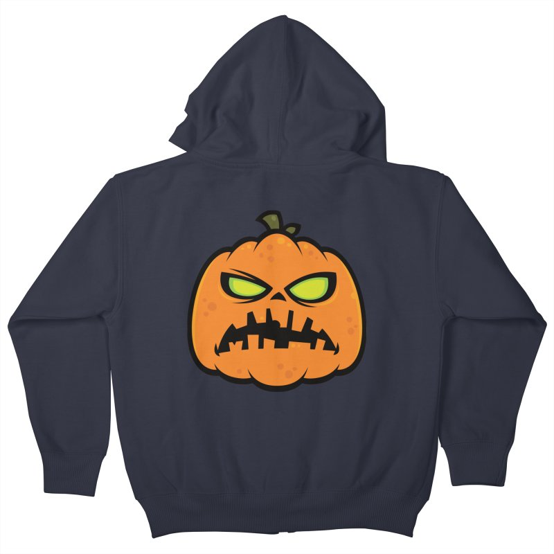 Pumpkin Zombie Kids Zip-Up Hoody by Fizzgig's Artist Shop