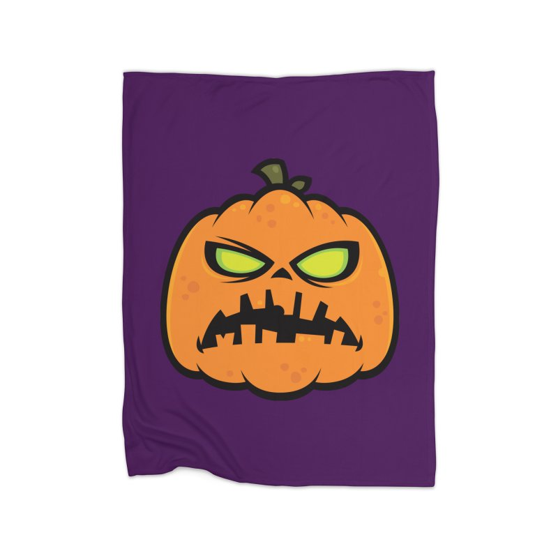 Pumpkin Zombie Home Blanket by Fizzgig's Artist Shop