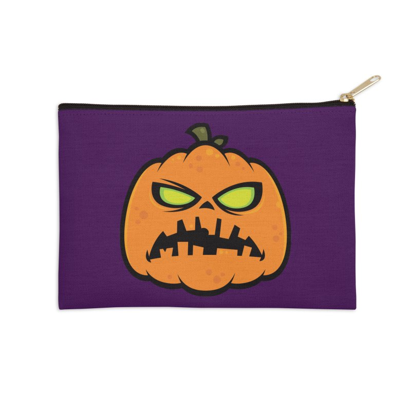 Pumpkin Zombie Accessories Zip Pouch by Fizzgig's Artist Shop