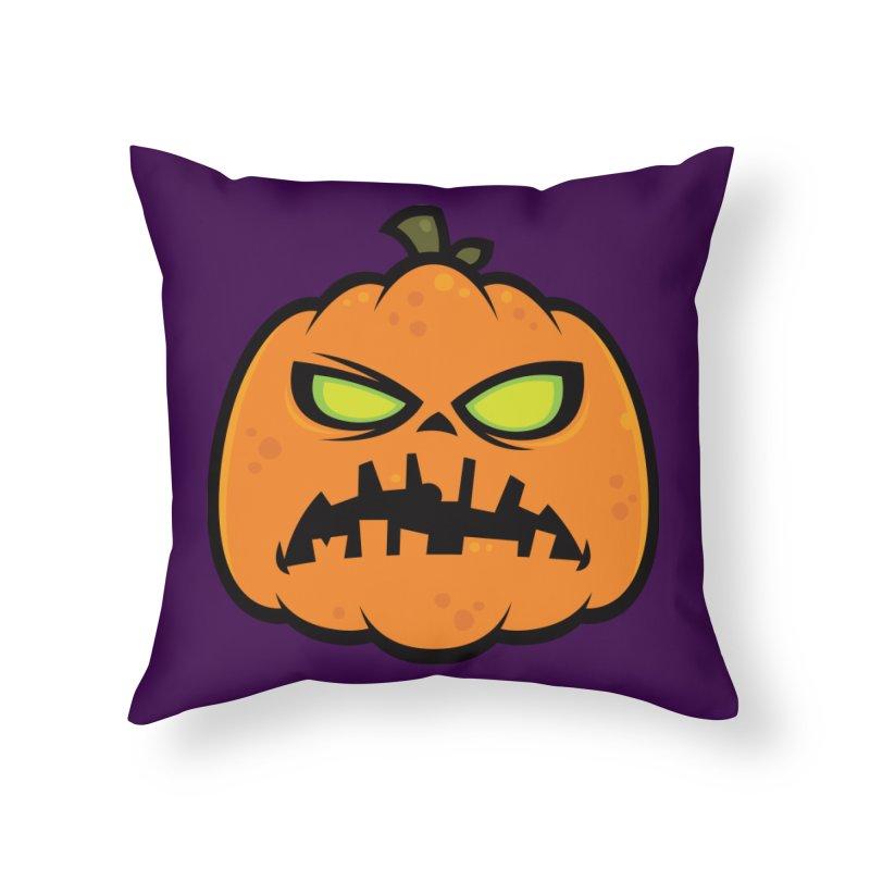 Pumpkin Zombie Home Throw Pillow by Fizzgig's Artist Shop