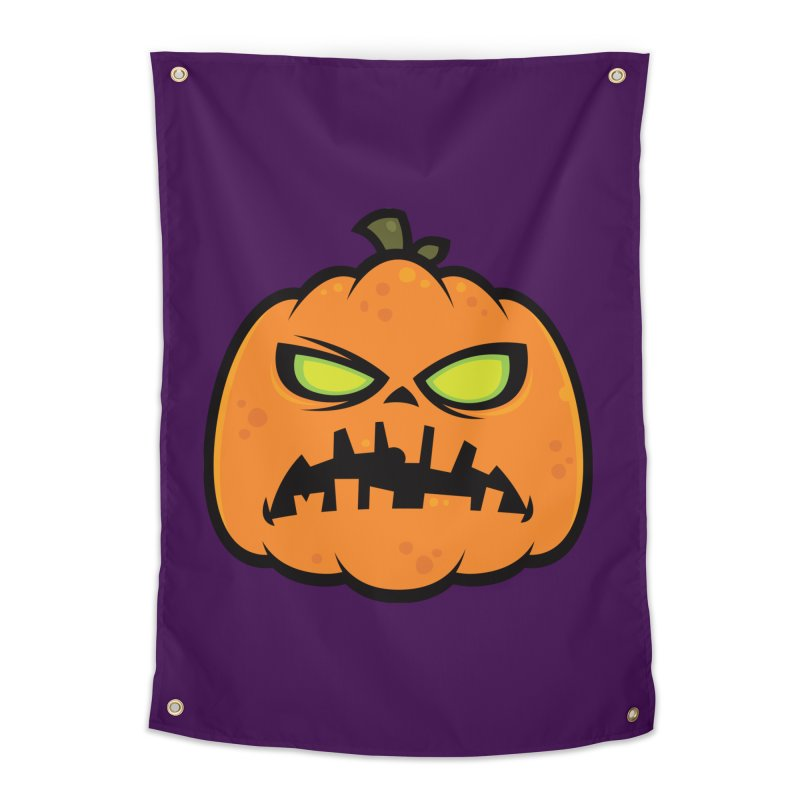 Pumpkin Zombie Home Tapestry by Fizzgig's Artist Shop