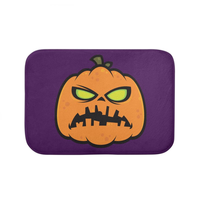 Pumpkin Zombie Home Bath Mat by Fizzgig's Artist Shop