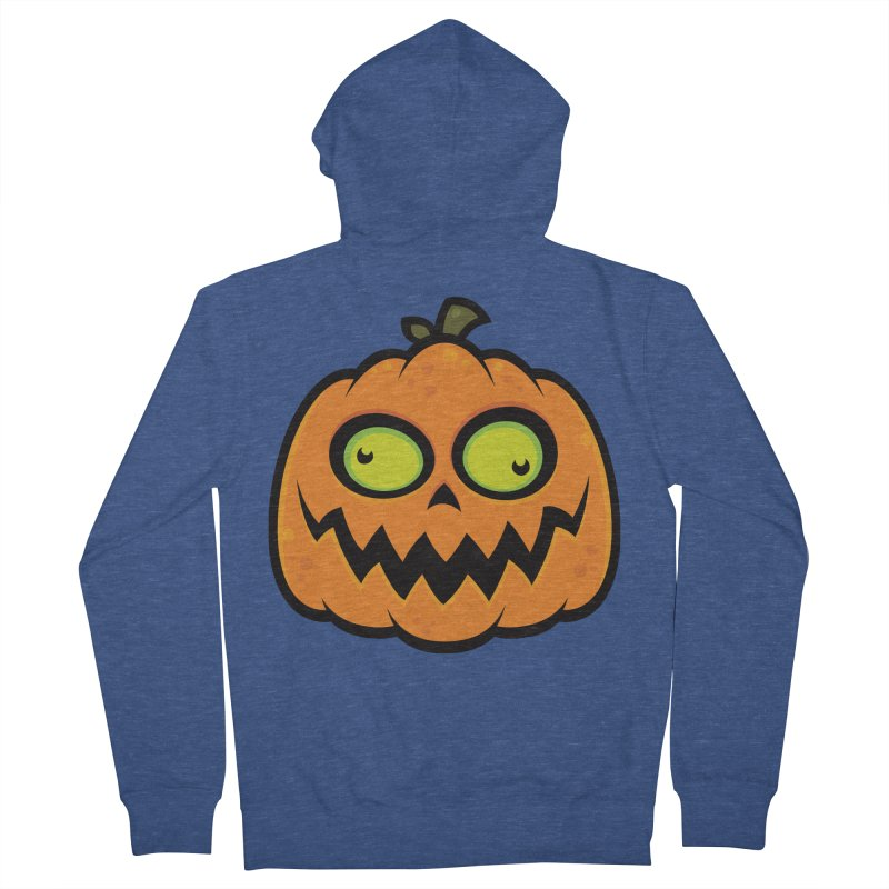 Crazy Pumpkin Men's Zip-Up Hoody by Fizzgig's Artist Shop