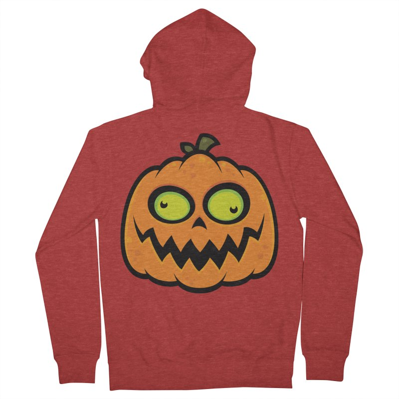 Crazy Pumpkin Men's Zip-Up Hoody by Fizzgig's Artist Shop