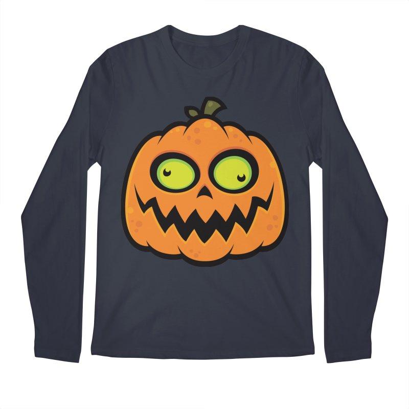 Crazy Pumpkin Men's Longsleeve T-Shirt by Fizzgig's Artist Shop