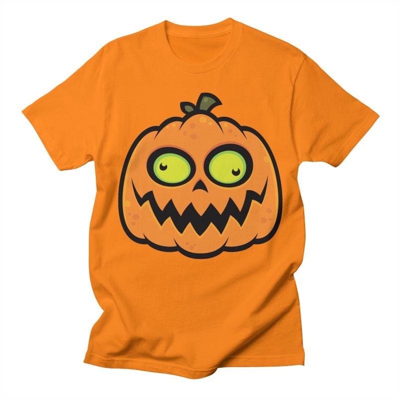 Crazy Pumpkin Men's T-shirt by Fizzgig's Artist Shop
