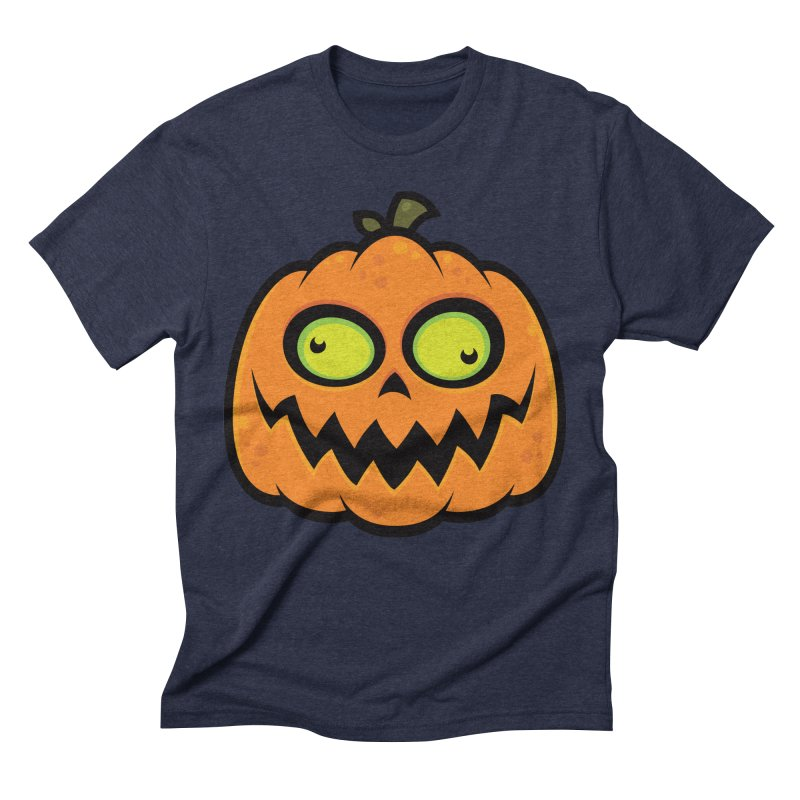Crazy Pumpkin Men's Triblend T-Shirt by Fizzgig's Artist Shop