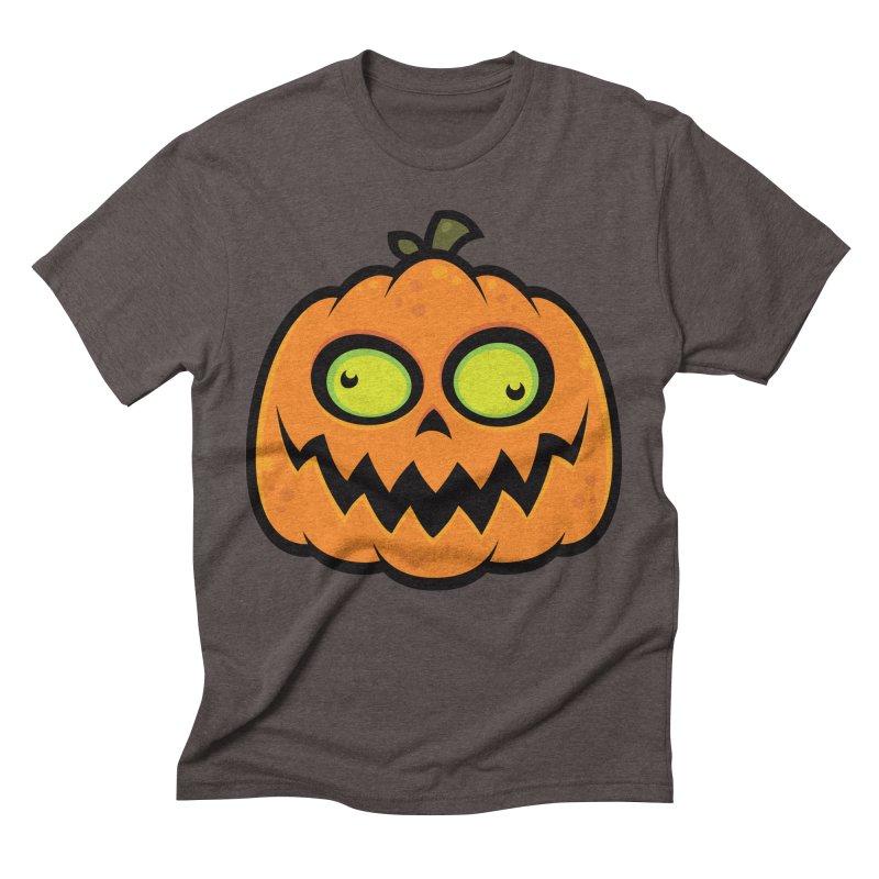 Crazy Pumpkin Men's Triblend T-shirt by Fizzgig's Artist Shop