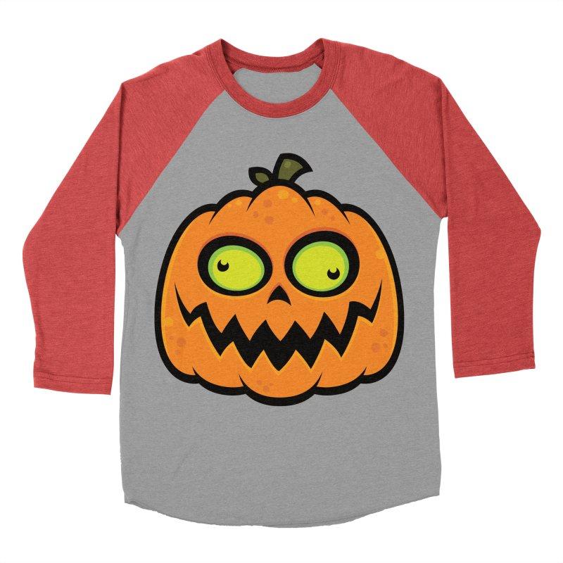 Crazy Pumpkin Women's Baseball Triblend T-Shirt by Fizzgig's Artist Shop
