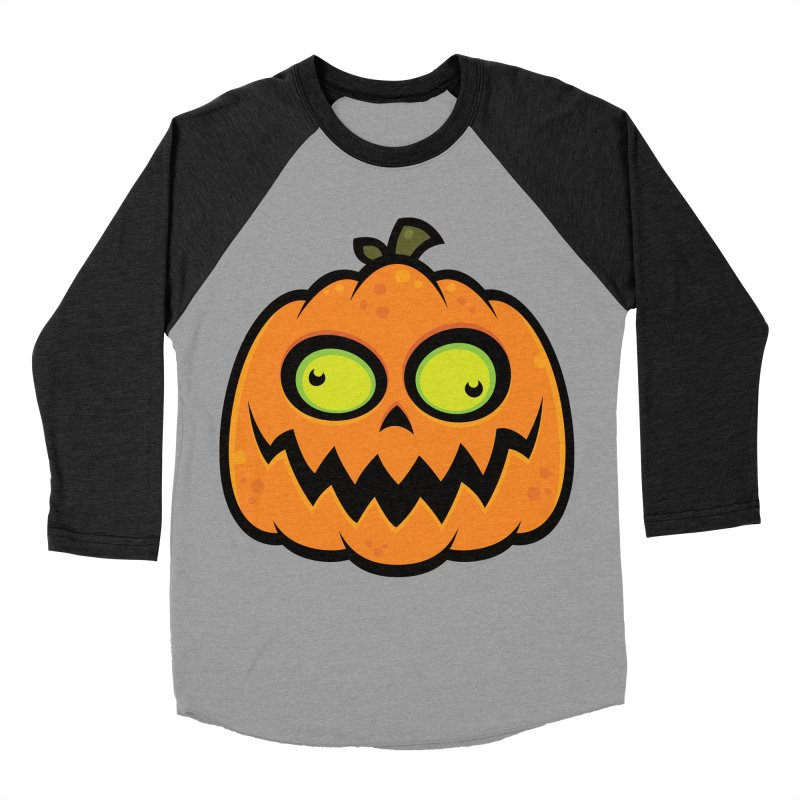 Crazy Pumpkin Women's Baseball Triblend T-Shirt by Fizzgig's Artist Shop