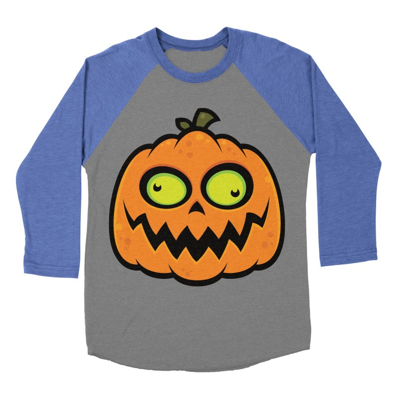 Crazy Pumpkin Men's Baseball Triblend T-Shirt by Fizzgig's Artist Shop
