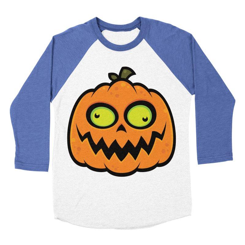 Crazy Pumpkin Men's Baseball Triblend T-Shirt by Fizzgig's Artist Shop