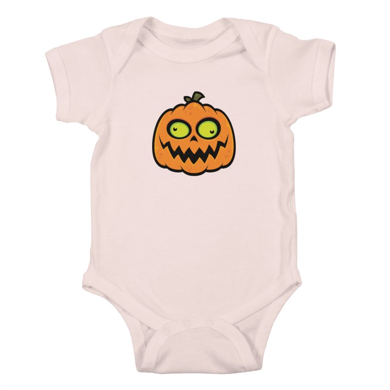 Crazy Pumpkin Kids Baby Bodysuit by Fizzgig's Artist Shop