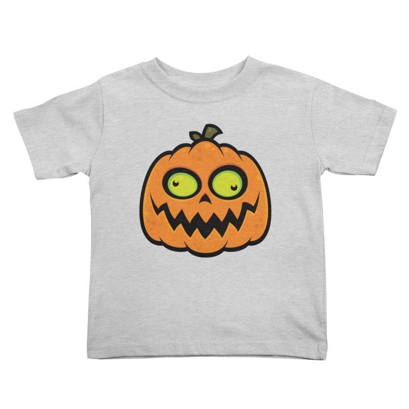 Crazy Pumpkin Kids Toddler T-Shirt by Fizzgig's Artist Shop