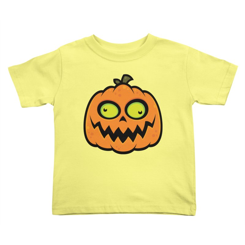 Crazy Pumpkin Kids Toddler T-Shirt by Fizzgig's Artist Shop