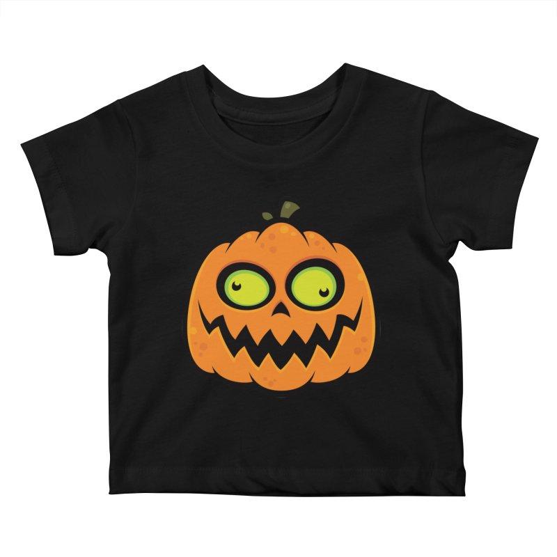 Crazy Pumpkin Kids Baby T-Shirt by Fizzgig's Artist Shop