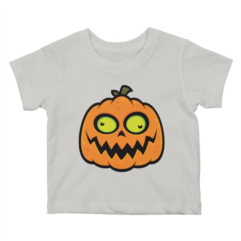 Crazy Pumpkin Kids Baby T-Shirt by Fizzgig's Artist Shop