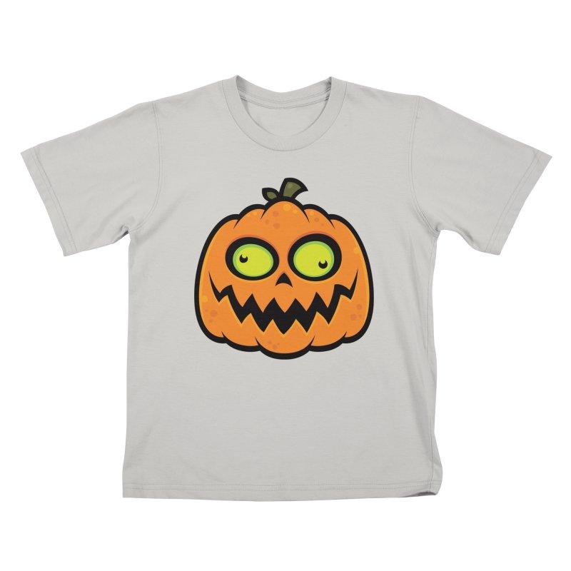 Crazy Pumpkin Kids T-Shirt by Fizzgig's Artist Shop
