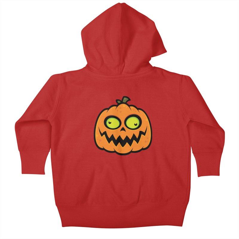 Crazy Pumpkin Kids Baby Zip-Up Hoody by Fizzgig's Artist Shop