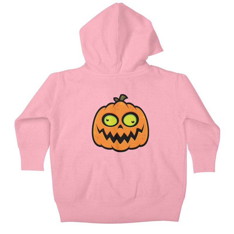 Crazy Pumpkin Kids Baby Zip-Up Hoody by Fizzgig's Artist Shop
