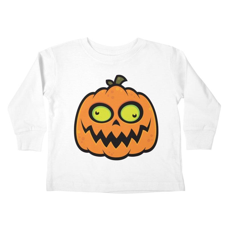 Crazy Pumpkin Kids Toddler Longsleeve T-Shirt by Fizzgig's Artist Shop