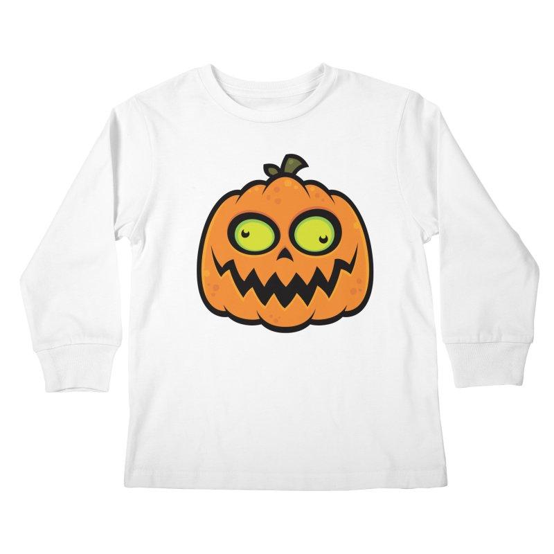 Crazy Pumpkin Kids Longsleeve T-Shirt by Fizzgig's Artist Shop