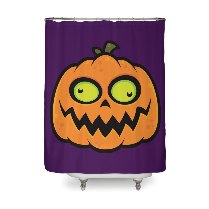 Crazy Pumpkin Home Shower Curtain by Fizzgig's Artist Shop