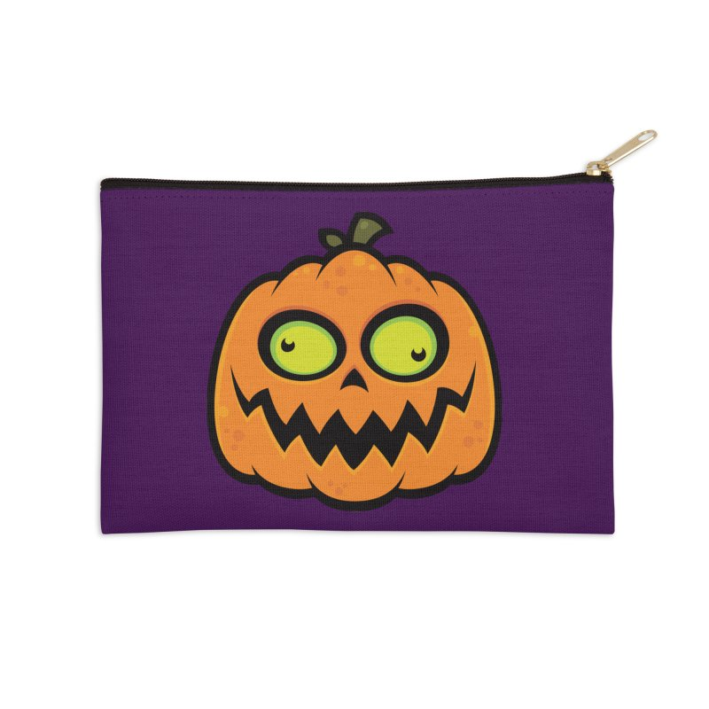 Crazy Pumpkin Accessories Zip Pouch by Fizzgig's Artist Shop