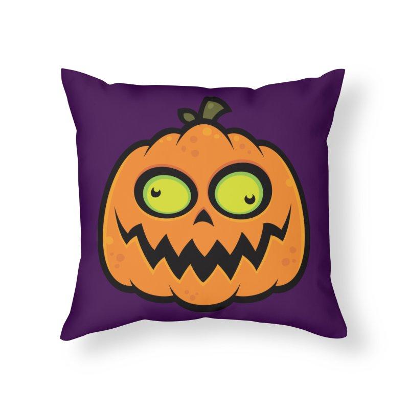 Crazy Pumpkin Home Throw Pillow by Fizzgig's Artist Shop