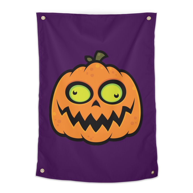 Crazy Pumpkin Home Tapestry by Fizzgig's Artist Shop