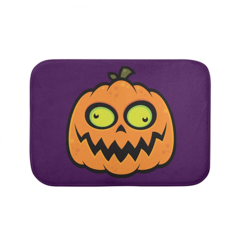 Crazy Pumpkin Home Bath Mat by Fizzgig's Artist Shop