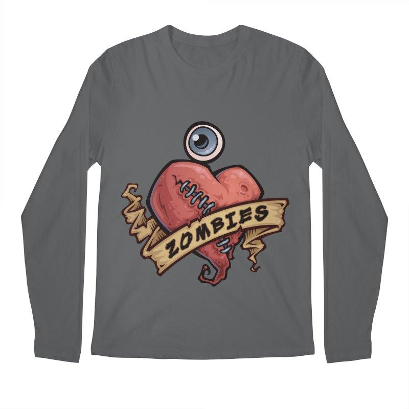 I Love Zombies Men's Longsleeve T-Shirt by Fizzgig's Artist Shop