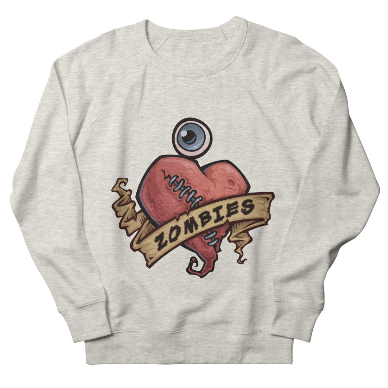 I Love Zombies Men's Sweatshirt by Fizzgig's Artist Shop