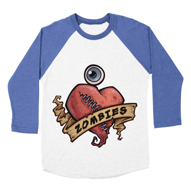 I Love Zombies Men's Baseball Triblend T-Shirt by Fizzgig's Artist Shop