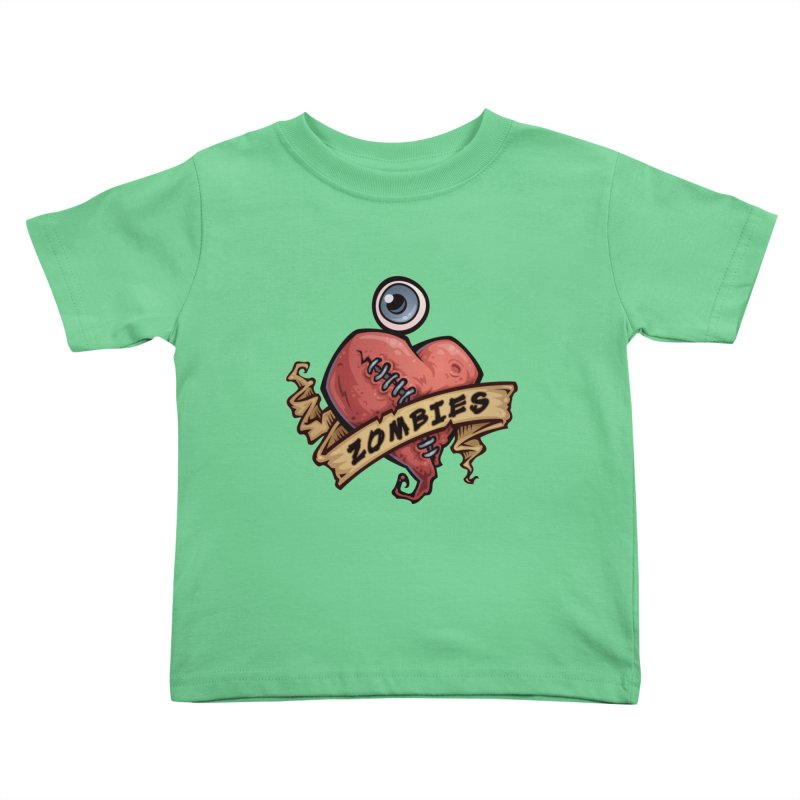 I Love Zombies Kids Toddler T-Shirt by Fizzgig's Artist Shop
