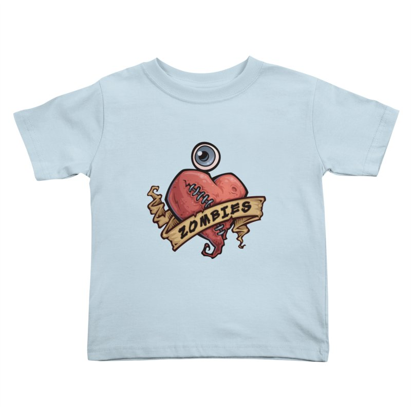 I Love Zombies Kids Toddler T-Shirt by Fizzgig's Artist Shop