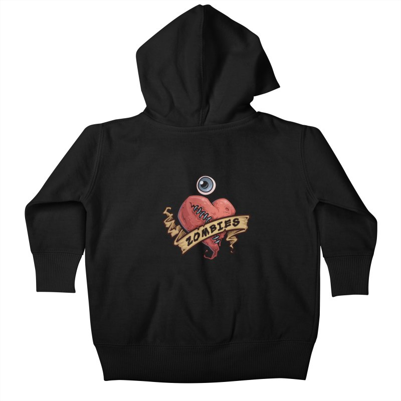 I Love Zombies Kids Baby Zip-Up Hoody by Fizzgig's Artist Shop