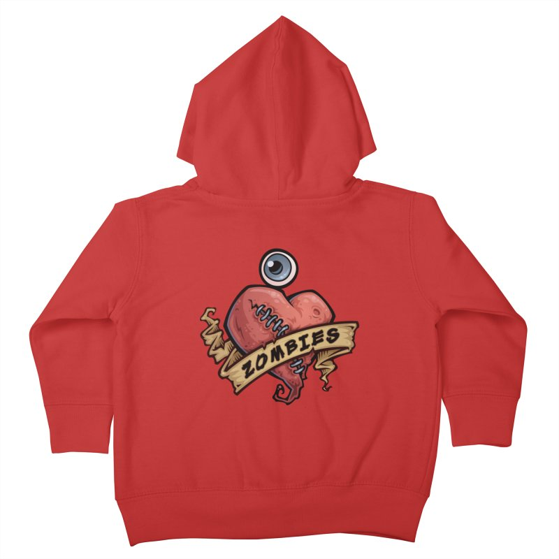I Love Zombies Kids Toddler Zip-Up Hoody by Fizzgig's Artist Shop