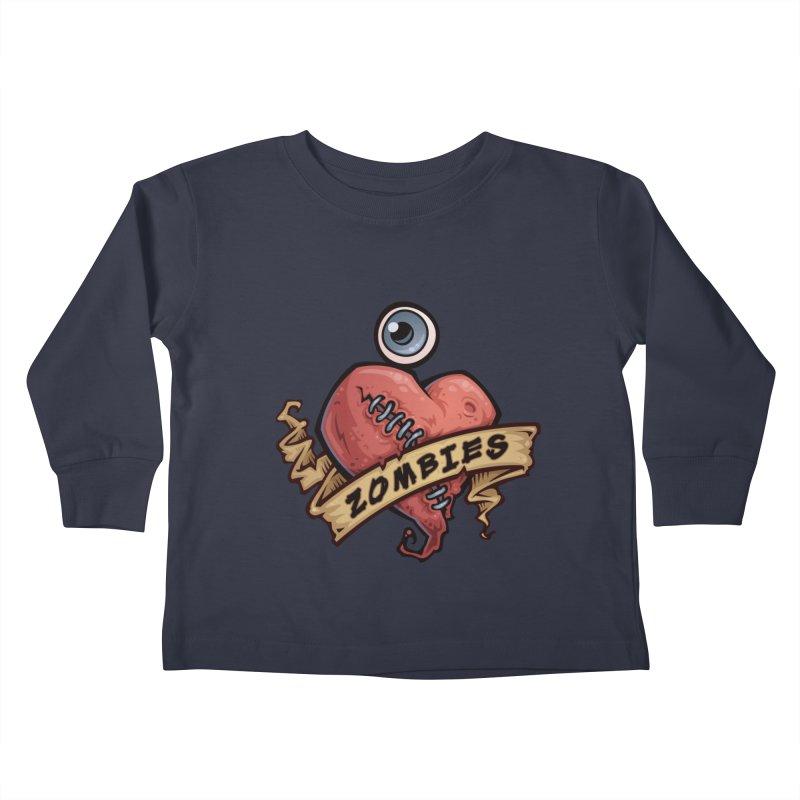 I Love Zombies Kids Toddler Longsleeve T-Shirt by Fizzgig's Artist Shop